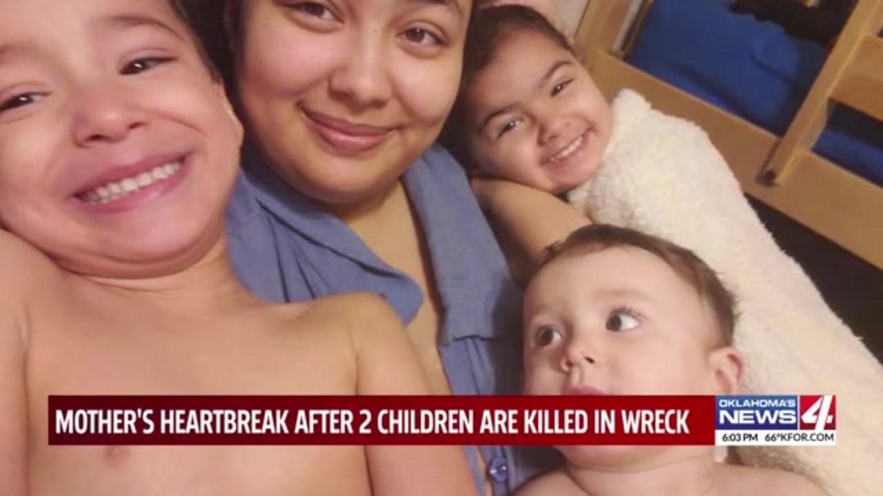 'It broke me': Young mom heartbroken after fiery crash kills 2 of her children, other teen