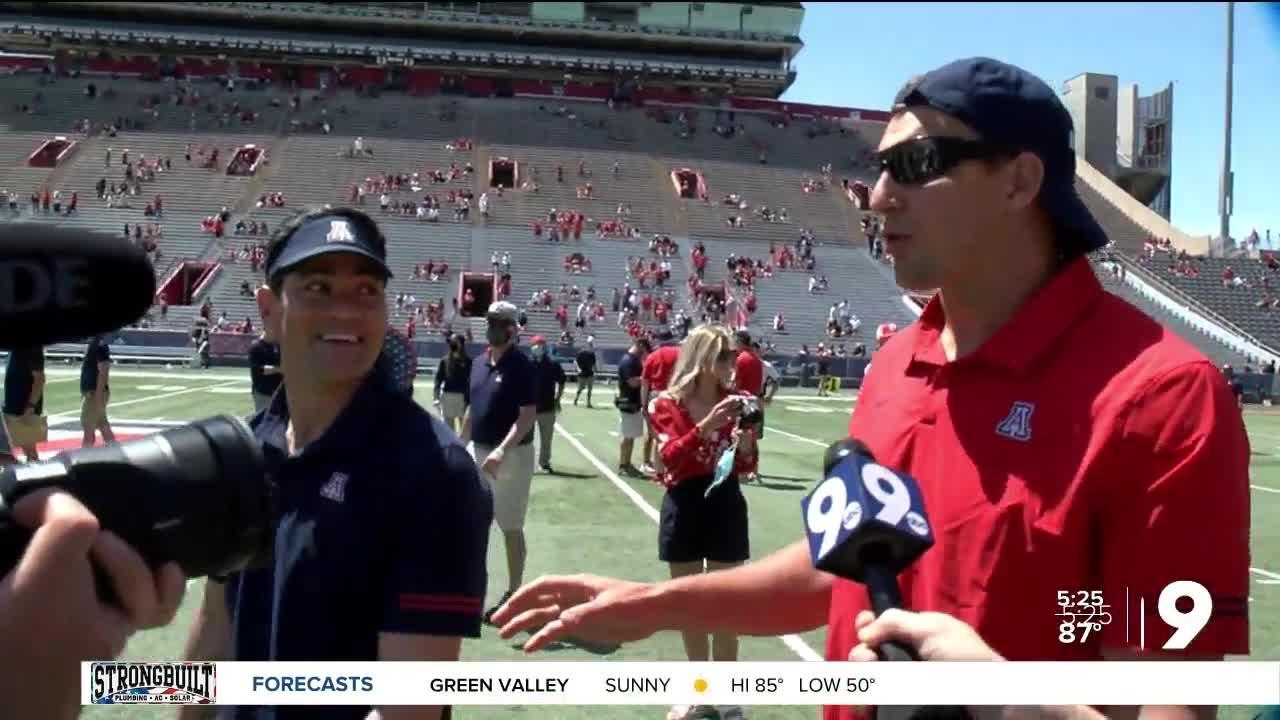 Gronkowski and Bruschi return for the spring game