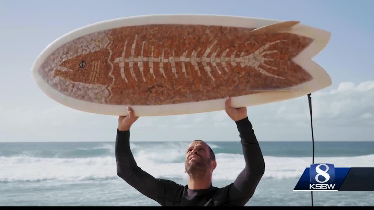LOCAL MAN RECYCLES CIGARETTE BUTTS TO MAKE SURFBOARDS