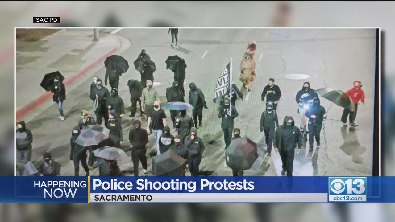 Protest Against Police Killings Unfolds In Sacramento