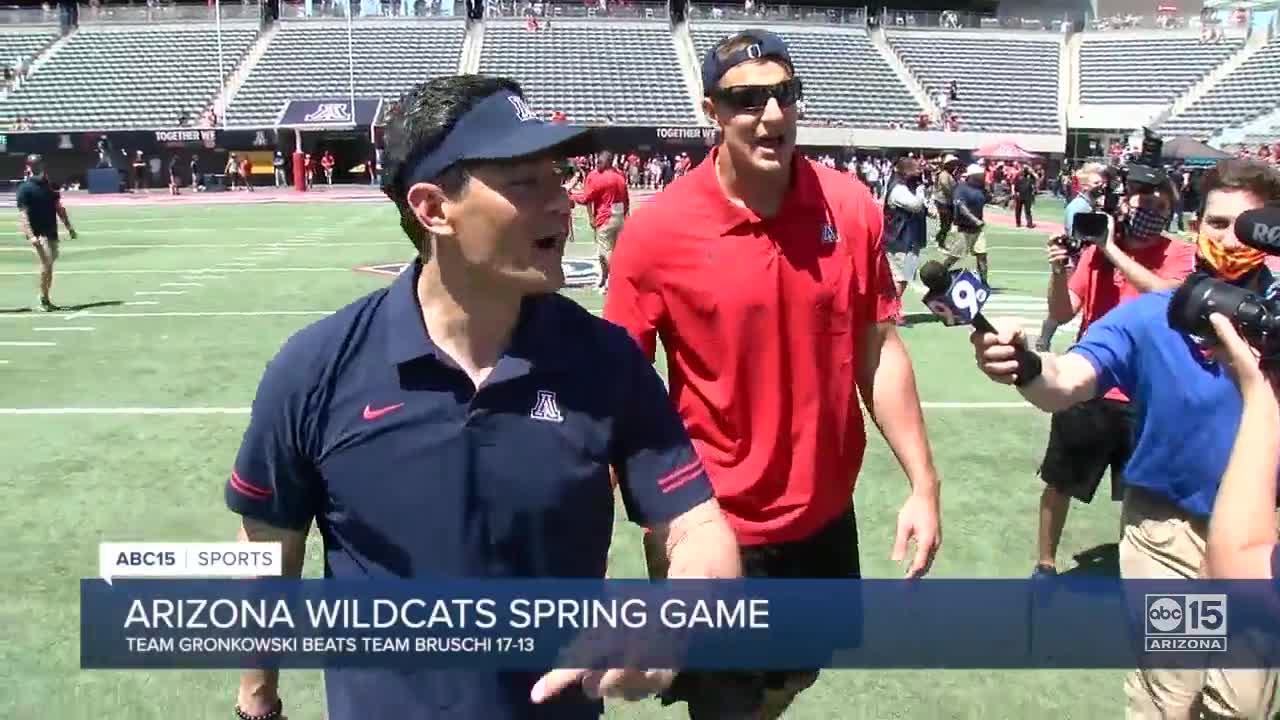 Jedd Fisch, Rob Gronkowski and Tedy Bruschi bring fun back to Arizona Wildcats spring game