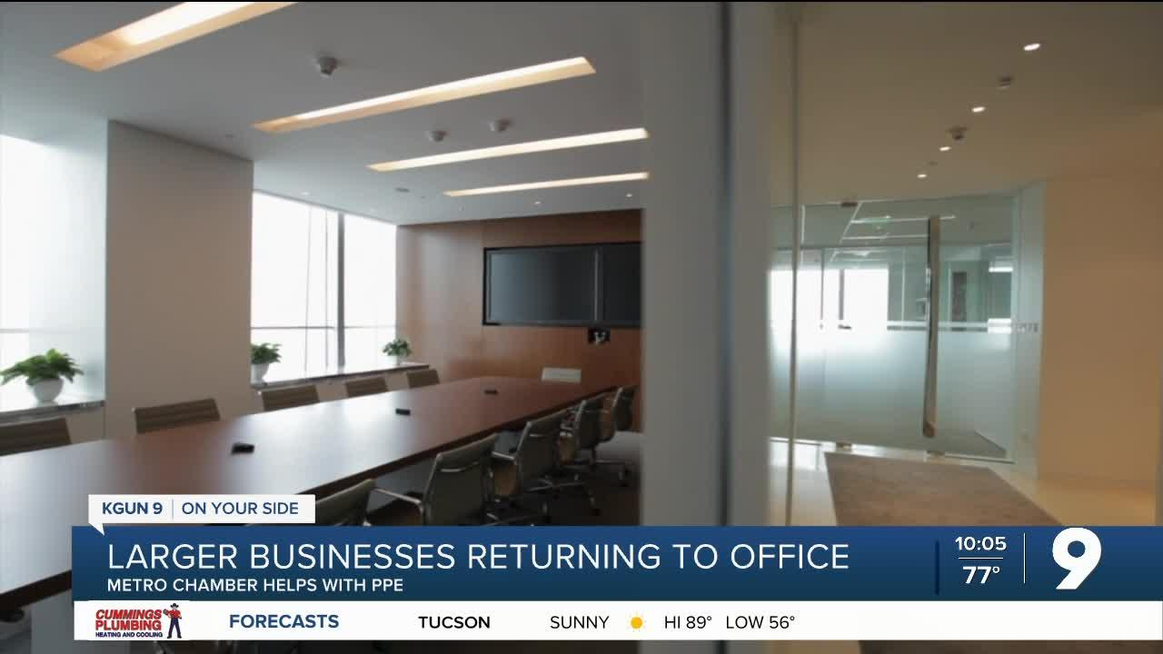 Tucson companies are heading back to the office