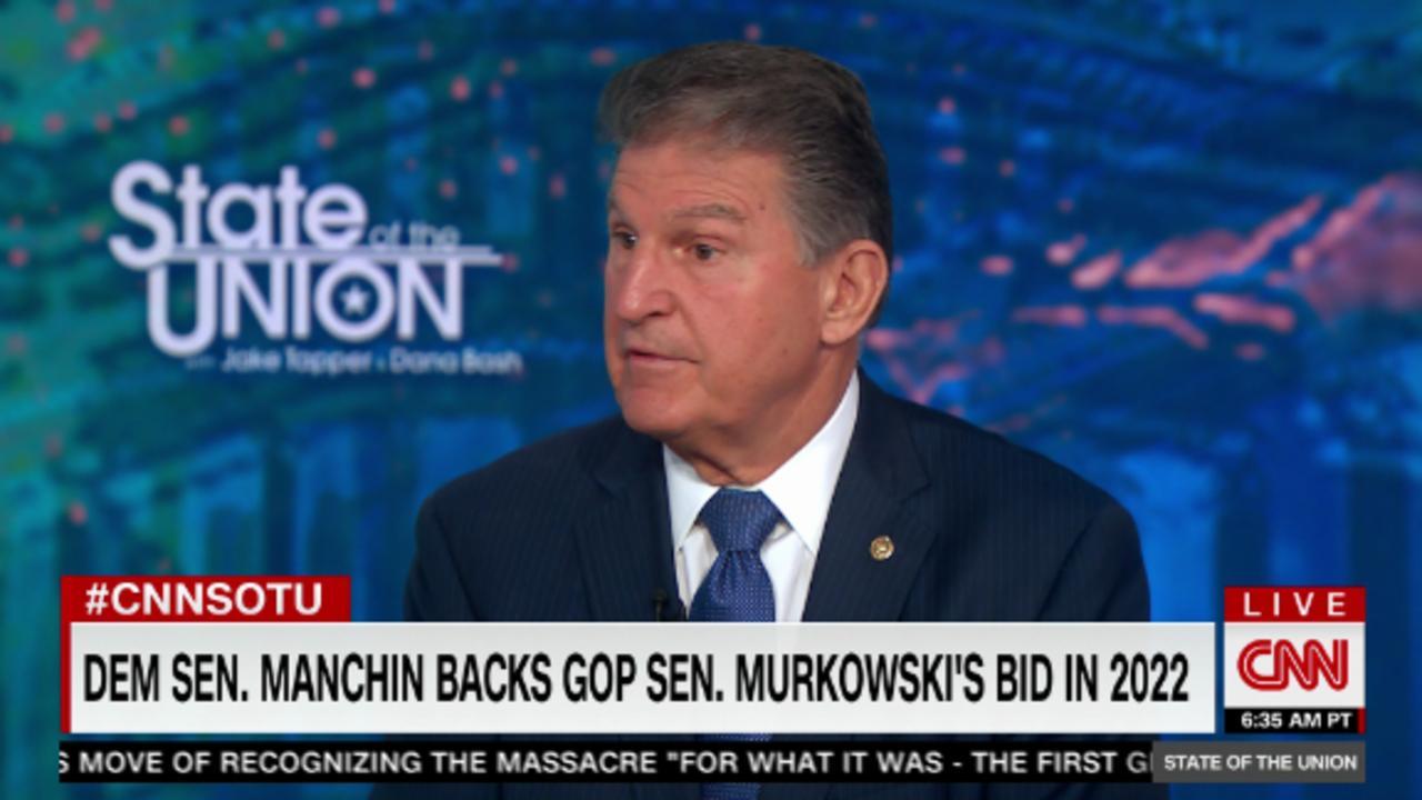 Manchin on decision to back GOP Sen. Murkowski's reelection