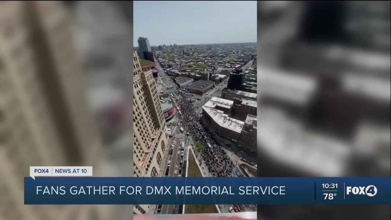 Fans gather for DMX memorial service