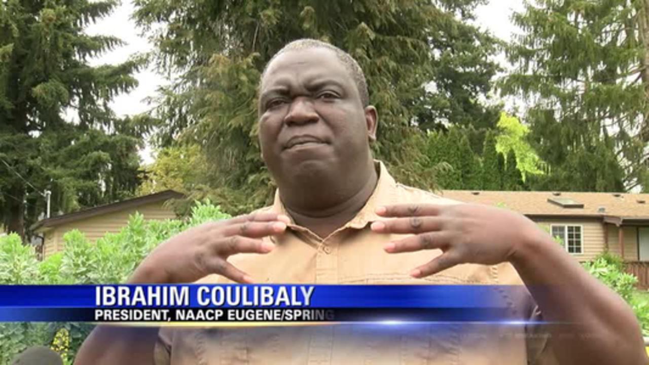 NAACP members speak about community garden dedication