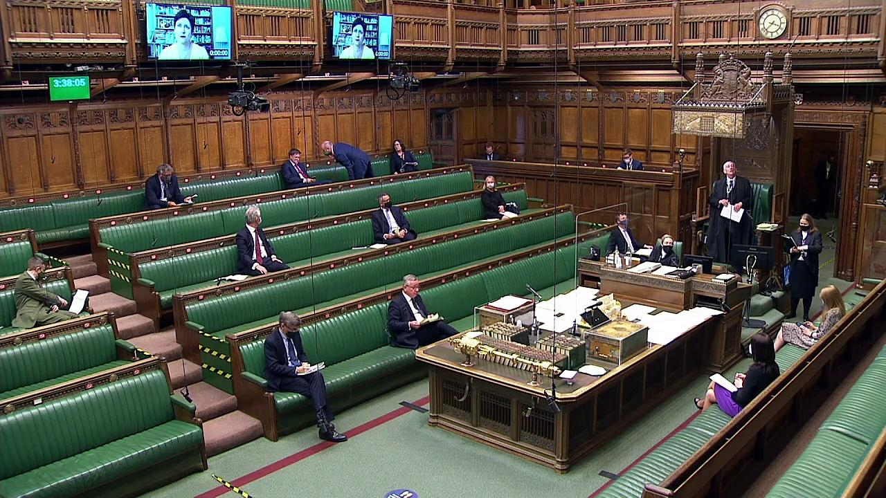 Speaker orders MPs to wear masks 'all the time' in Commons