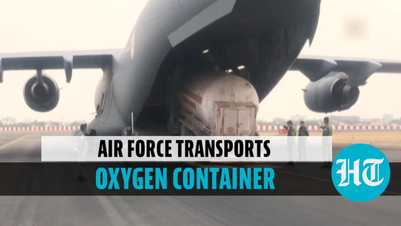 Watch: Indian Air Force's C-17 aircraft airlifts cryogenic oxygen containers