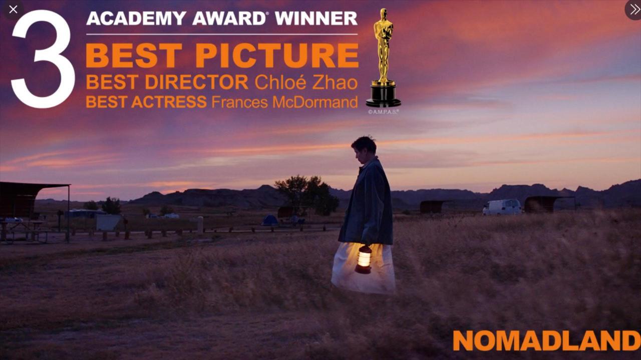 Nomadland scores triple Oscars gold