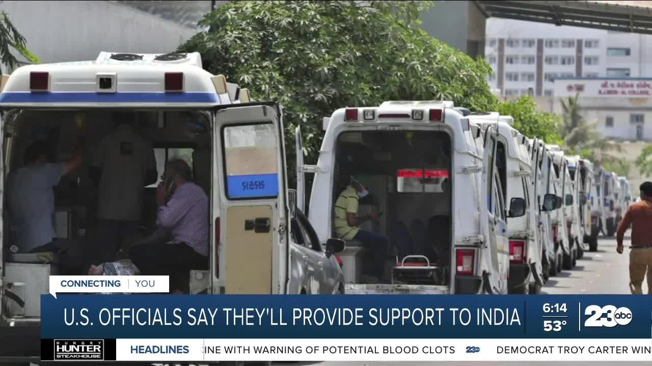 U.S. officials say they'll provide COVID support to India