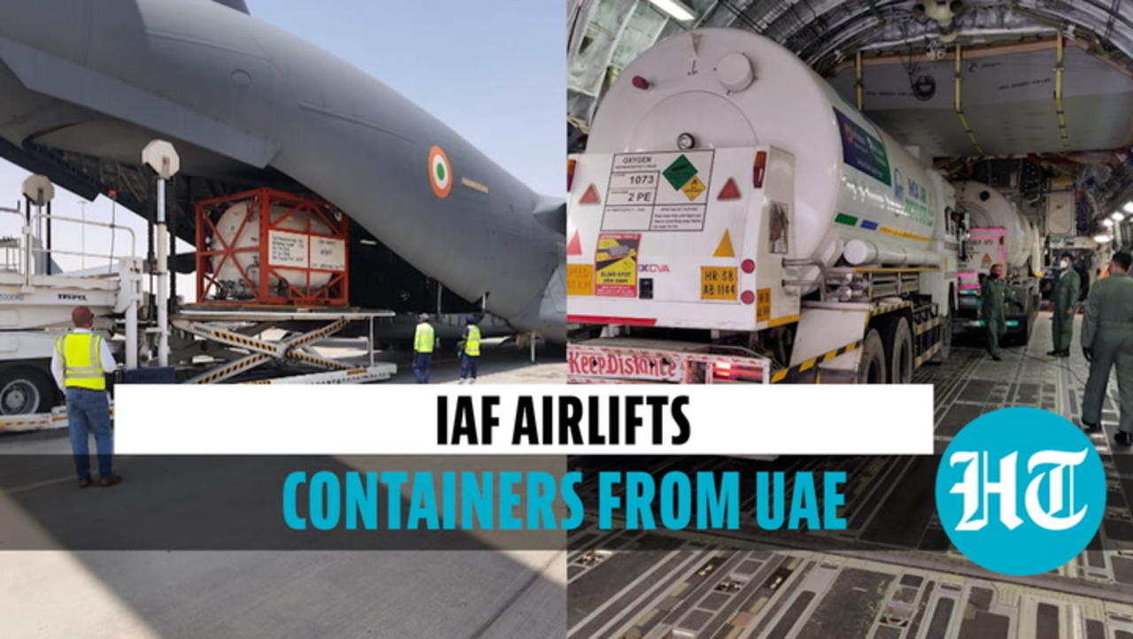 IAF airlifts six oxygen containers from Dubai, positions them in West Bengal