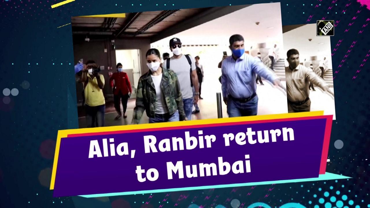 Alia, Ranbir return to Mumbai