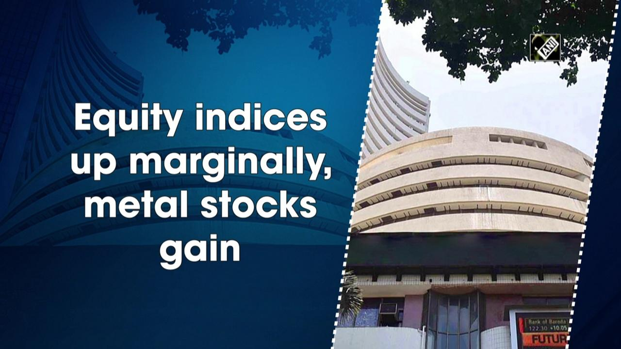 Equity indices up marginally, metal stocks gain