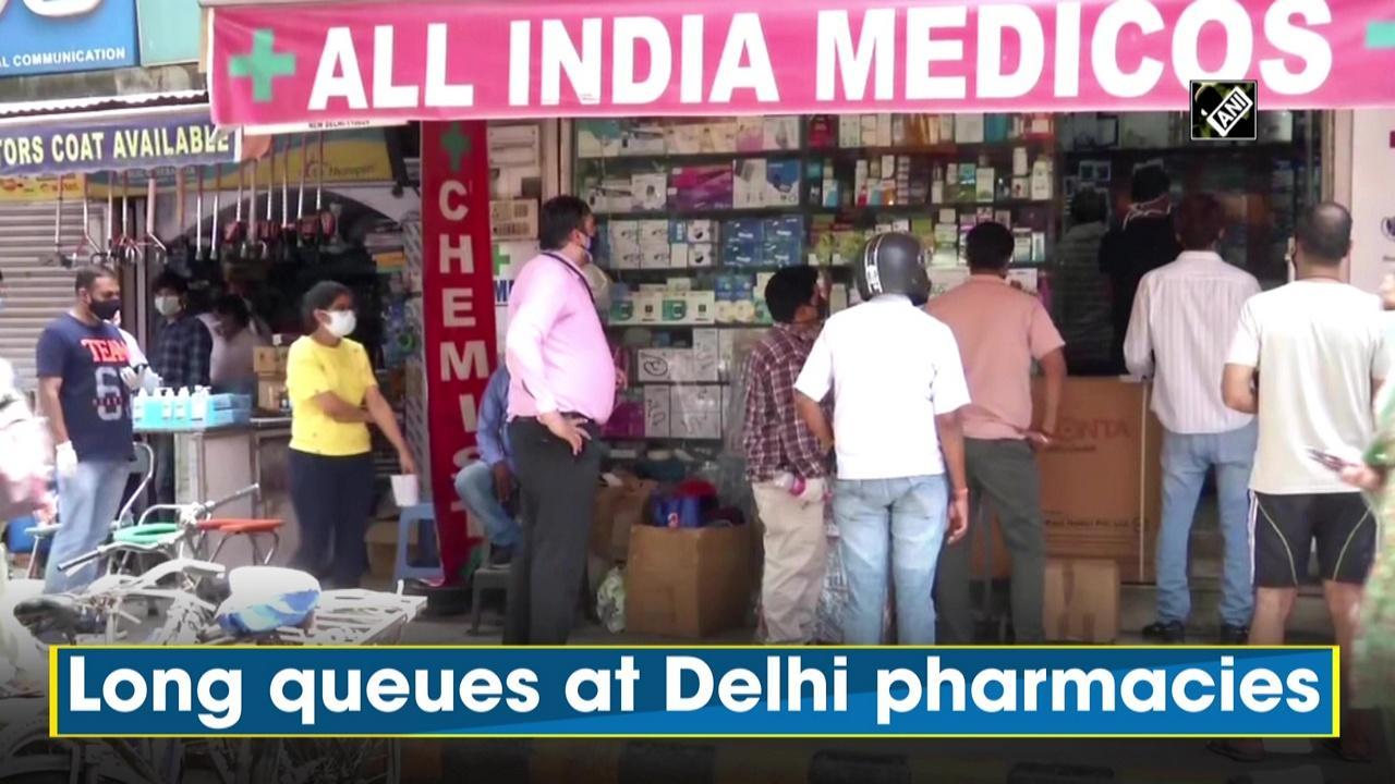Long queues at Delhi pharmacies as people struggle to get COVID medicines