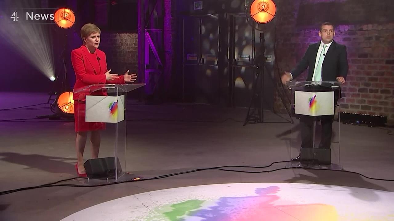Holyrood leaders clash in debate ahead of next week's election