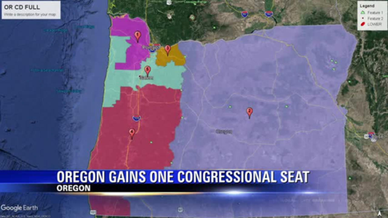 Oregon adds one congressional seat after census data shows a large increase in population