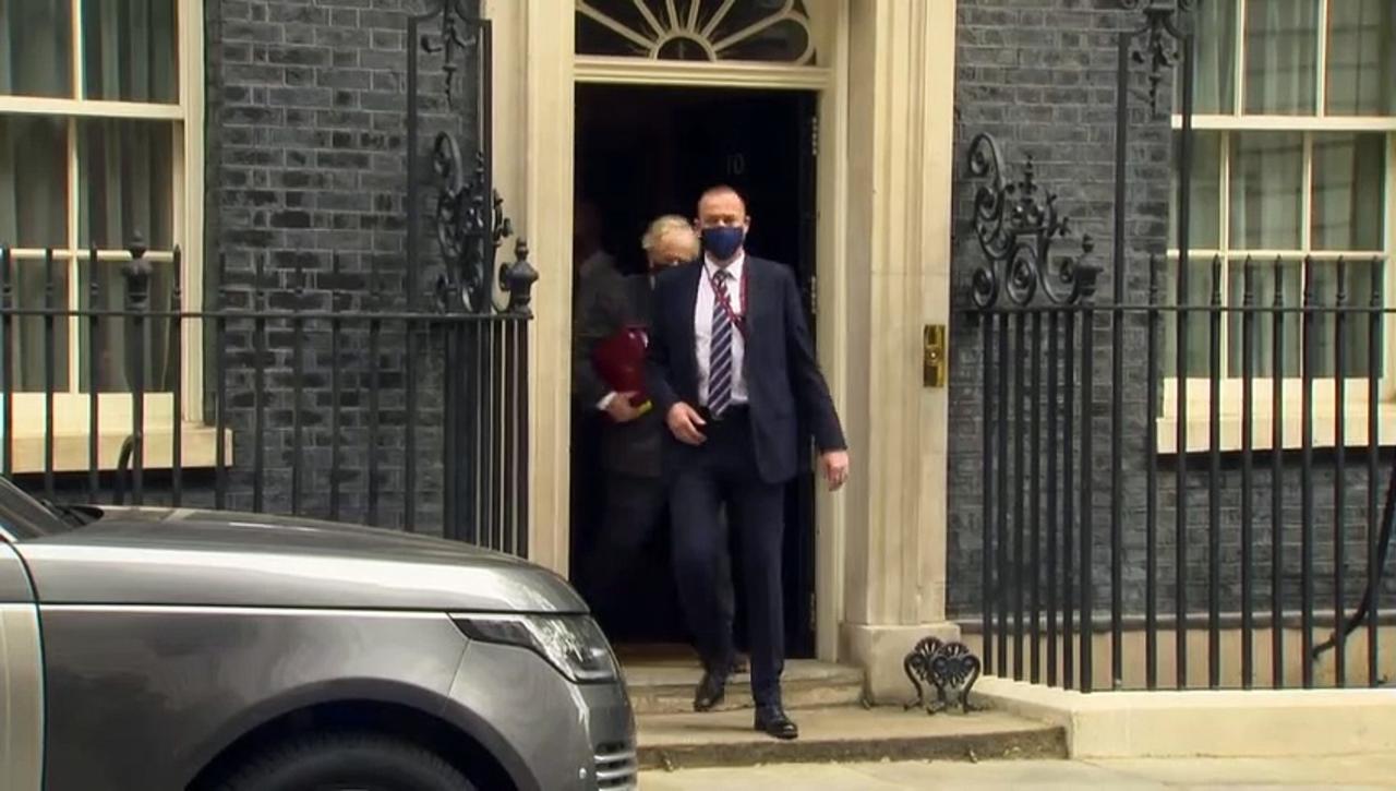 Boris Johnson departs 10 Downing St for PMQs