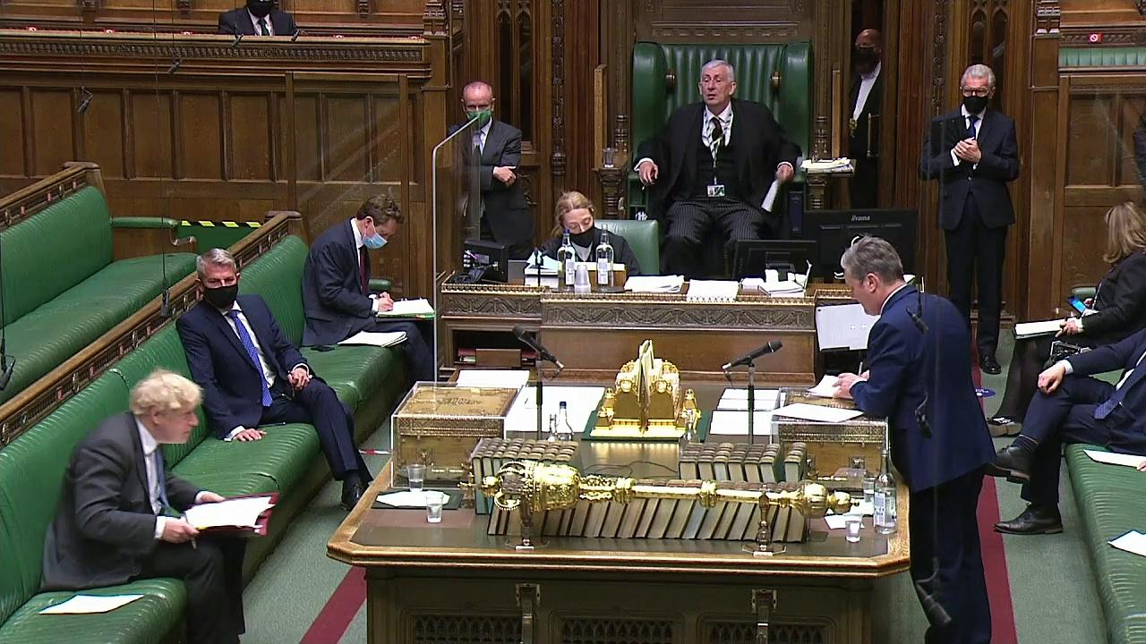Starmer accuses Johnson of 'major sleaze' at PMQs