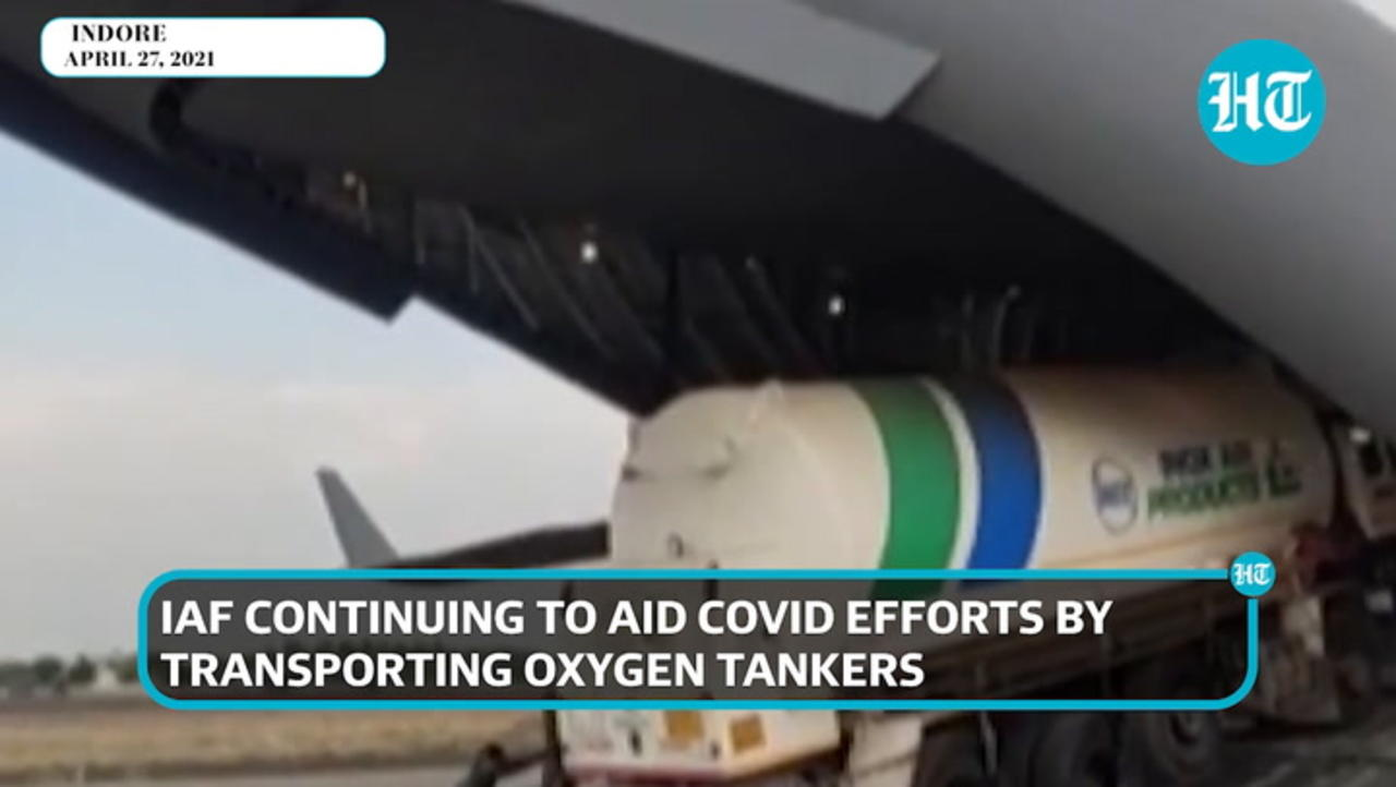 Watch: Indian Air Force carrying oxygen tankers between 7 cities amid Covid