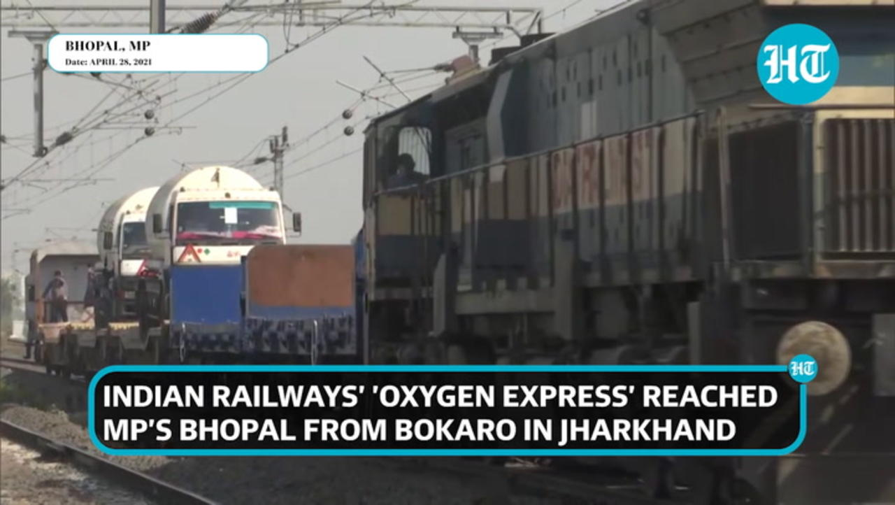 Watch: 'Oxygen Express' with 64 MT medical oxygen arrives in Madhya Pradesh