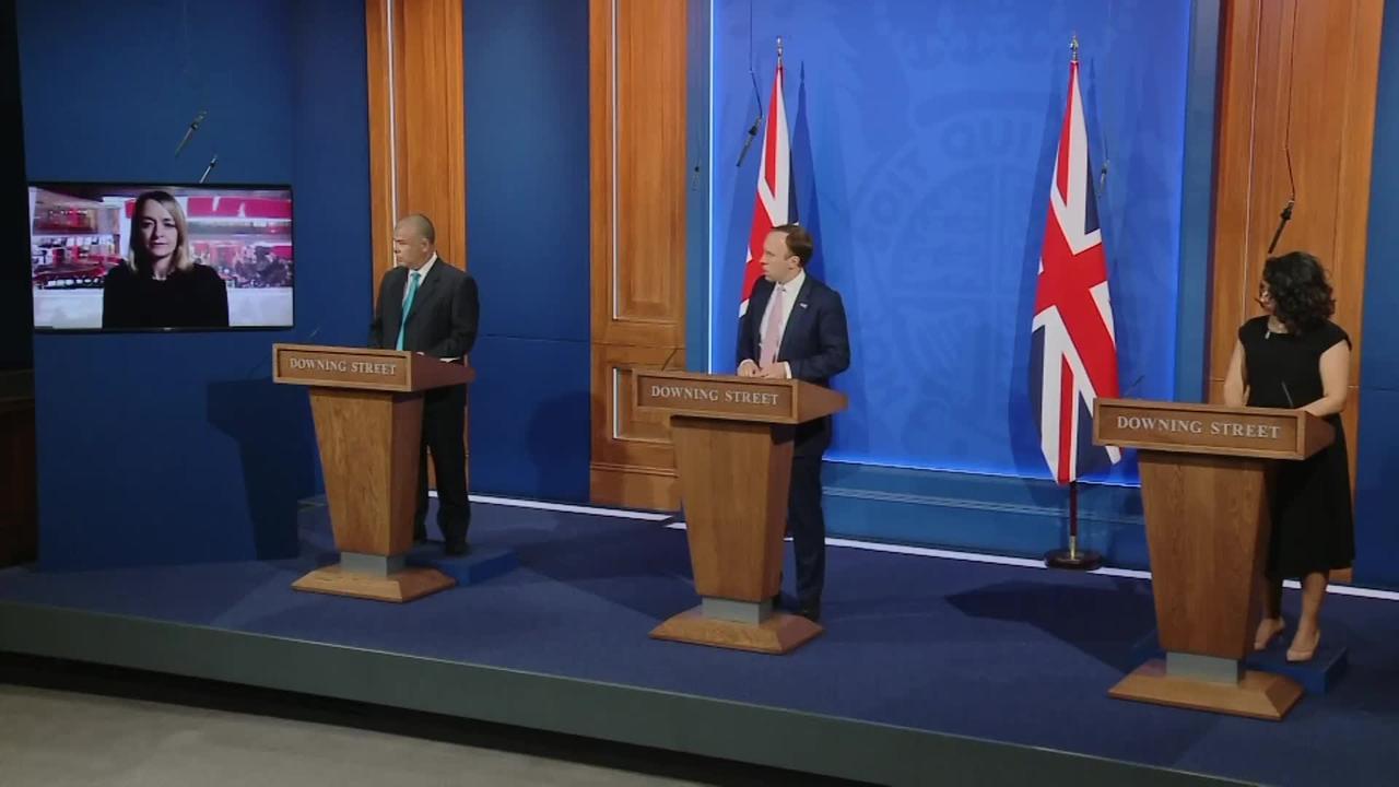 Matt Hancock avoids answering questions related to Boris Johnson's flat