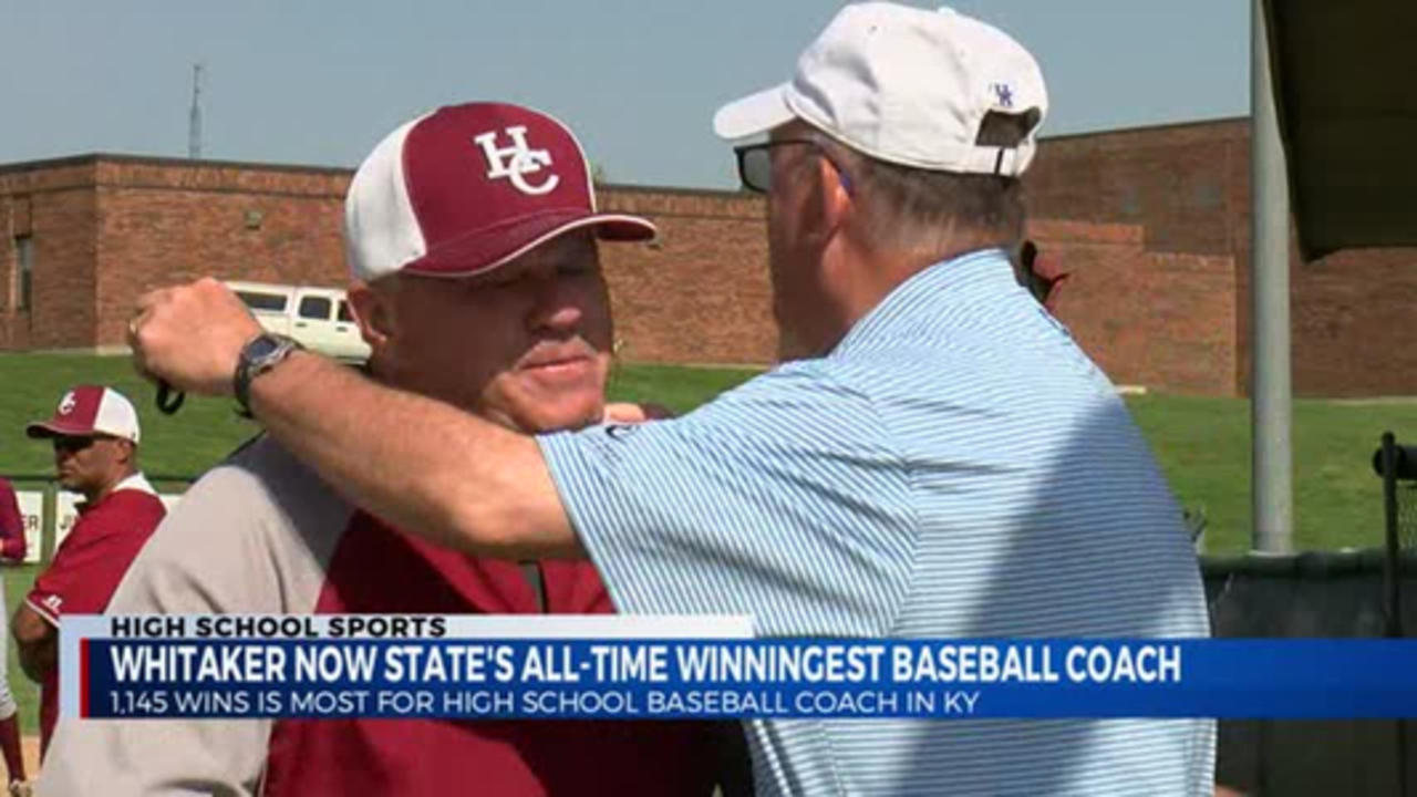 Harrison County's Mac Whitaker now all-time winningest coach in KHSAA baseball history