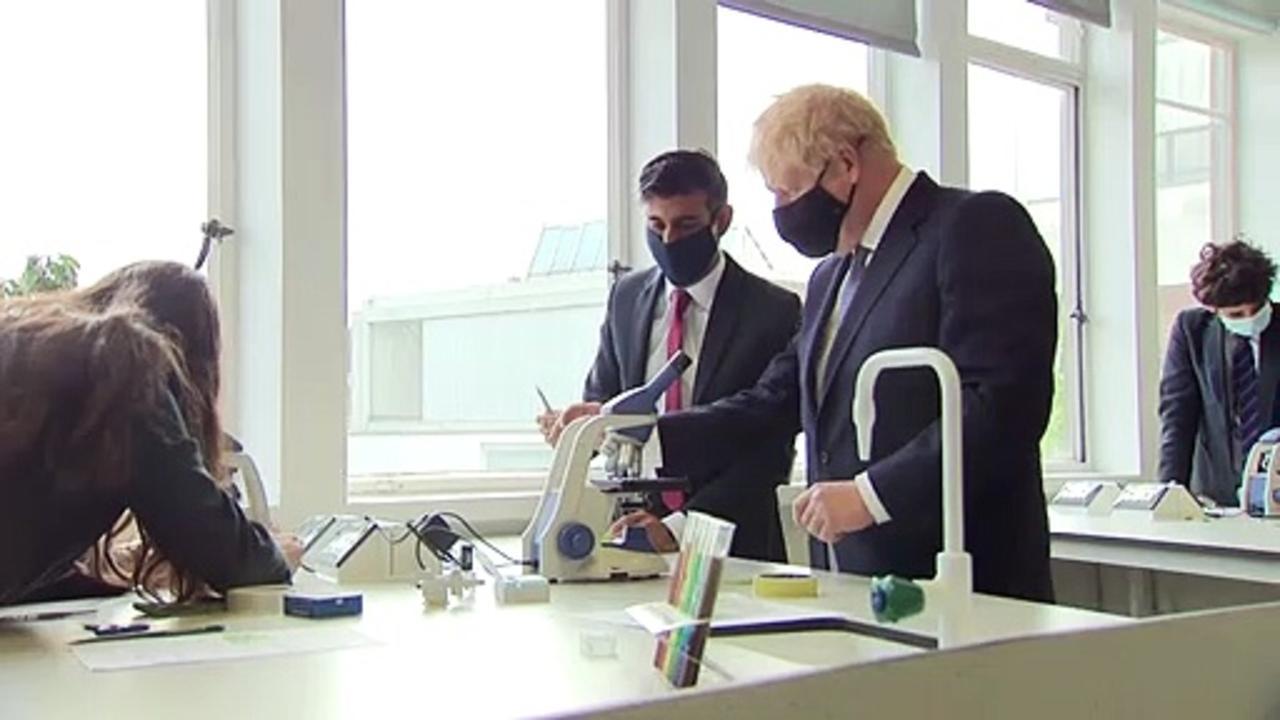 Johnson and Sunak visit secondary school in London