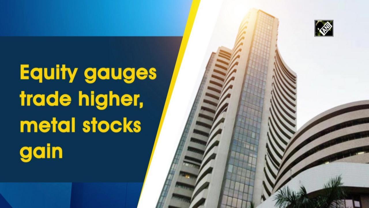 Equity gauges trade higher, metal stocks gain