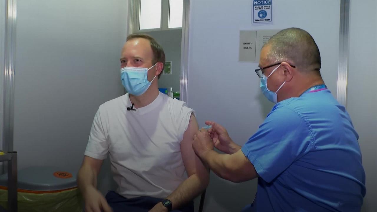Matt Hancock thanks deputy chief medic JVT for giving him first coronavirus jab
