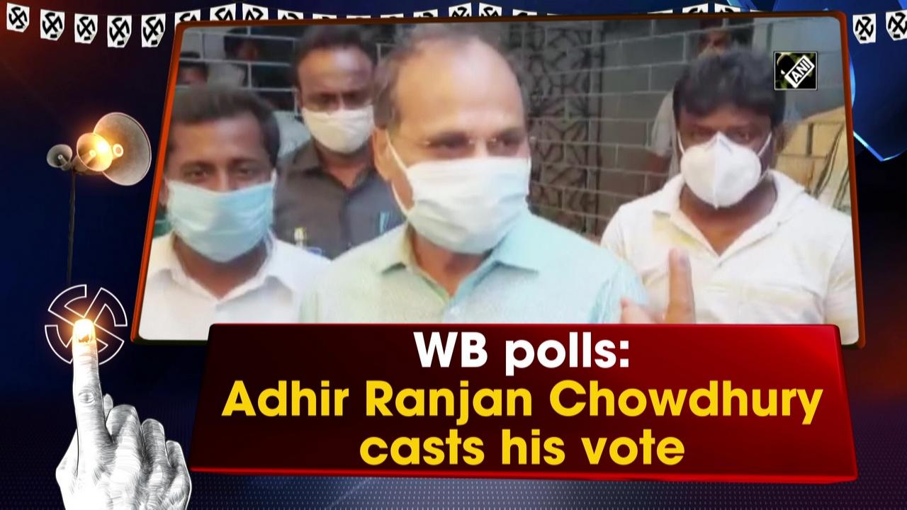 WB polls: Adhir Ranjan Chowdhury casts his vote