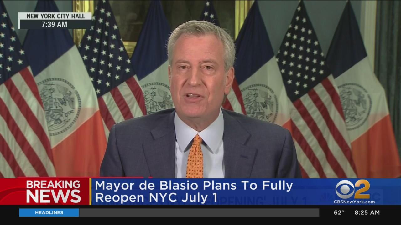 NYC To Fully Reopen In July, Mayor Says