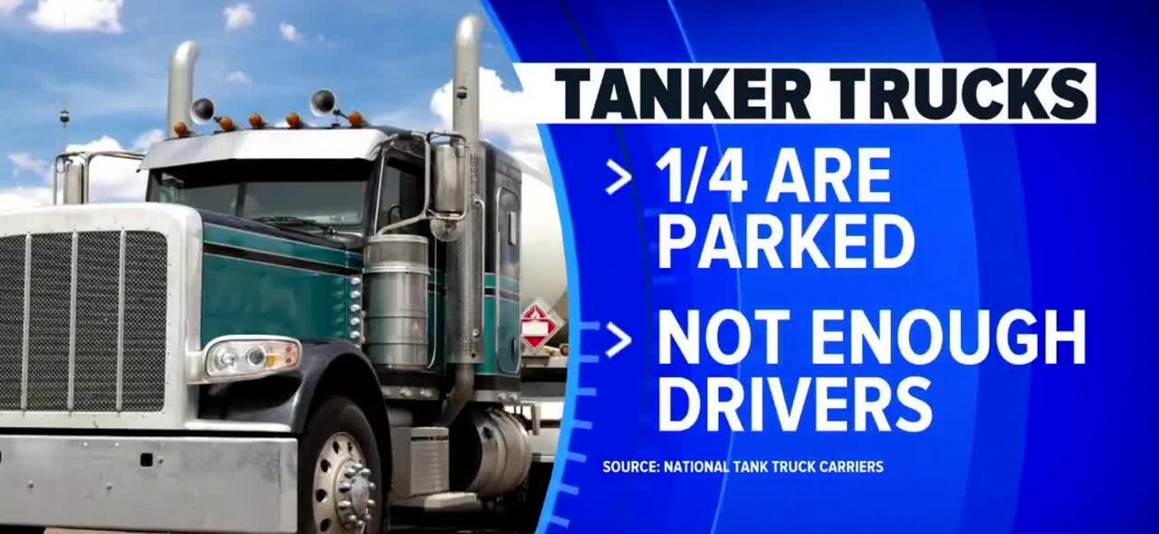 Tanker tank driver shortage could impact summer travel, gas prices