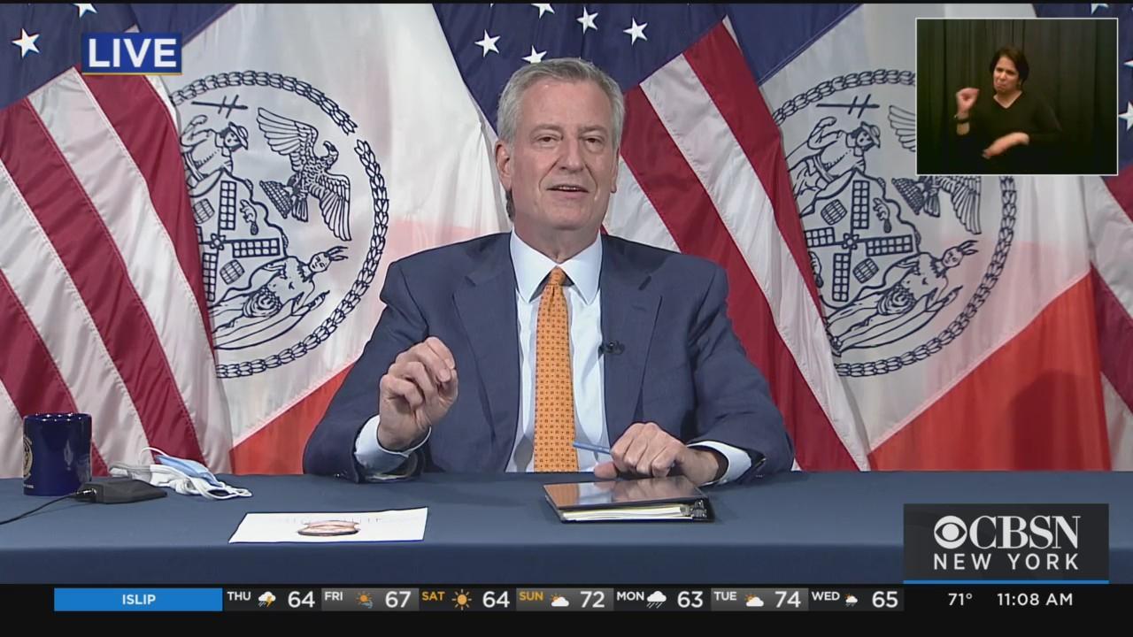 Mayor De Blasio Announces Reopening Of New York City