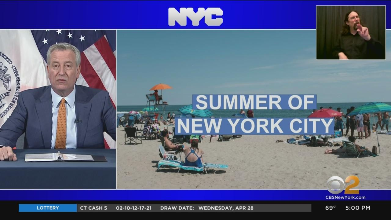 Mayor de Blasio Sets Goal To Fully Reopen NYC By July 1