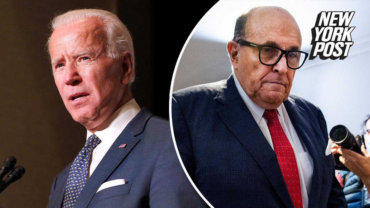 Biden says he didn't know in advance about FBI's Rudy Giuliani raid