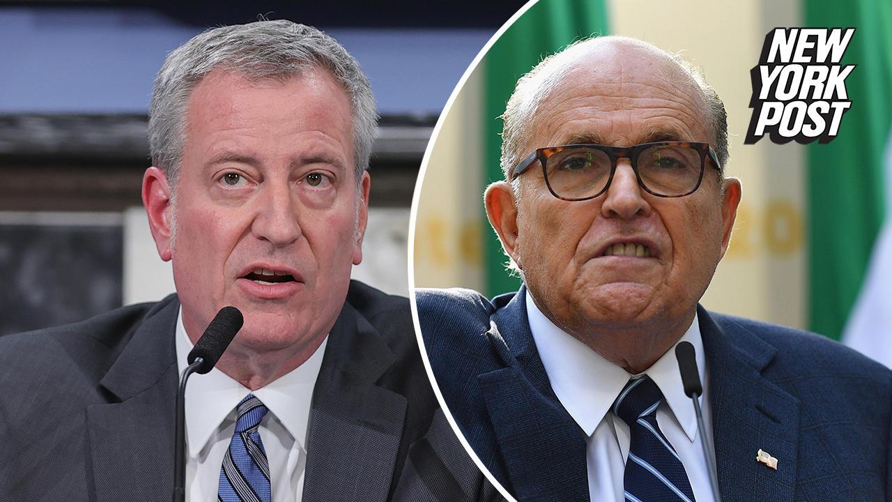 De Blasio: Rudy Giuliani 'has just come unhinged in every sense'