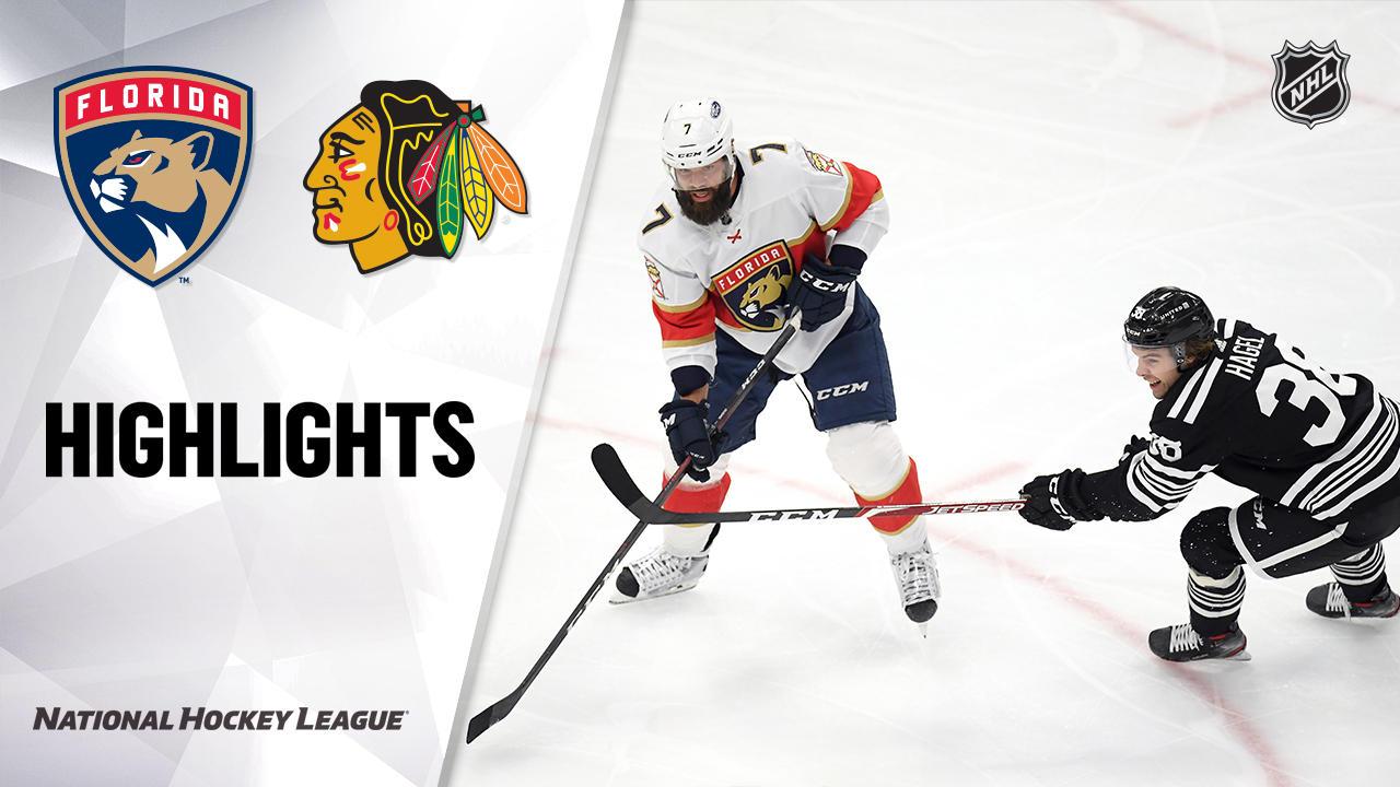 Panthers @ Blackhawks 4/29/21   NHL Highlights