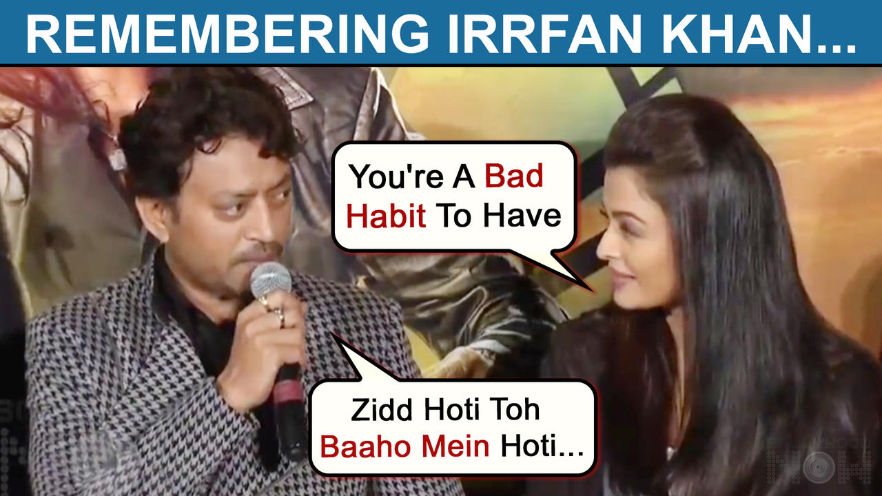 Irrfan Khan Flirts With Aishwarya Rai With A Romantic Line, Zidd Hoti Toh Baaho Mein Hoti |Throwback