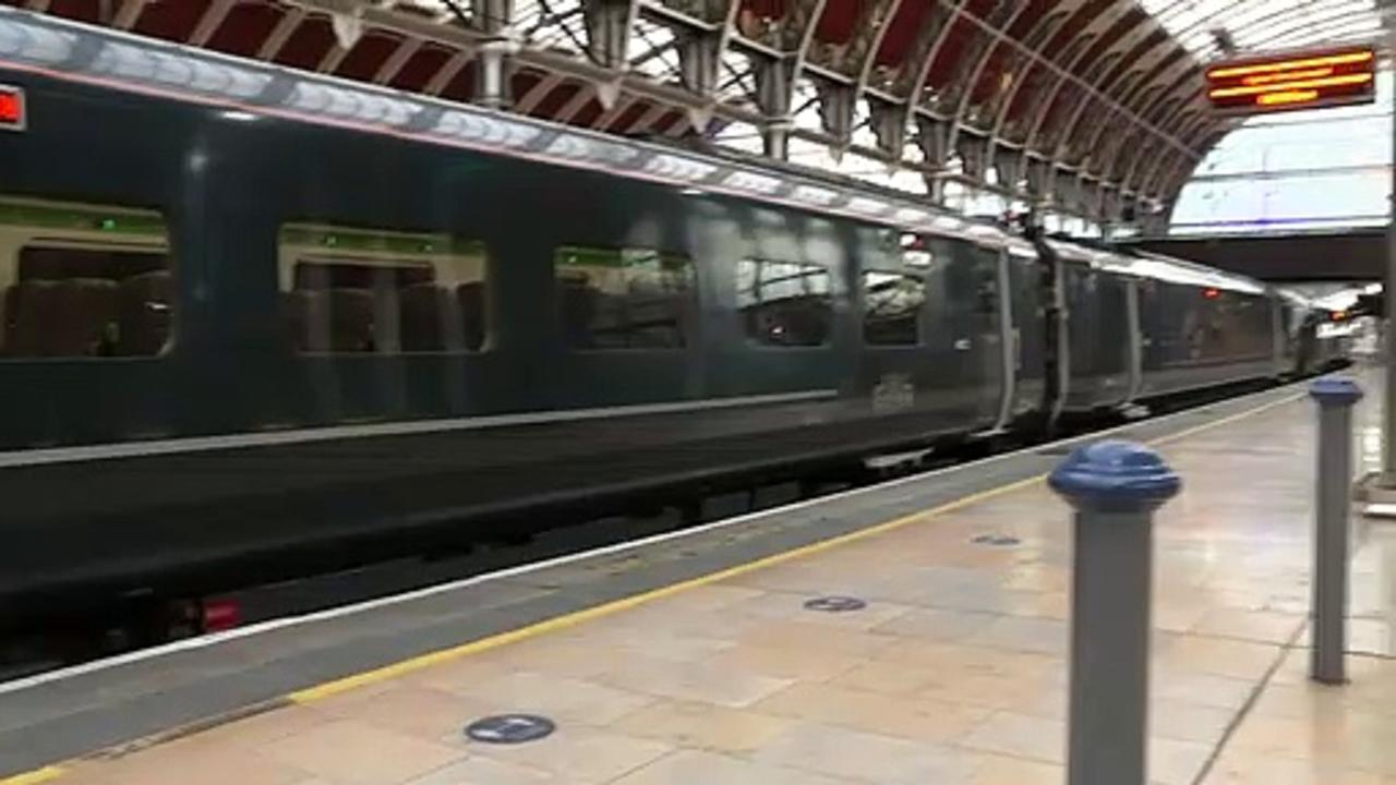 Captain Tom train leaves London to begin charity challenge