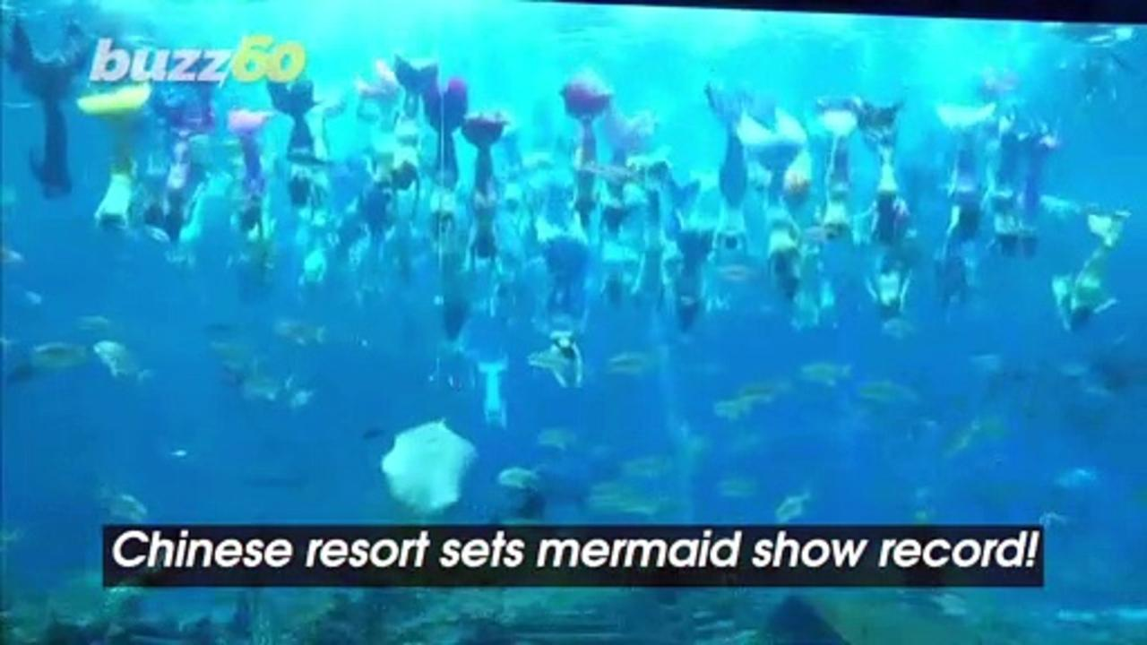 Largest Underwater Mermaid Show at Chinese Resort Sets a Guinness World Record