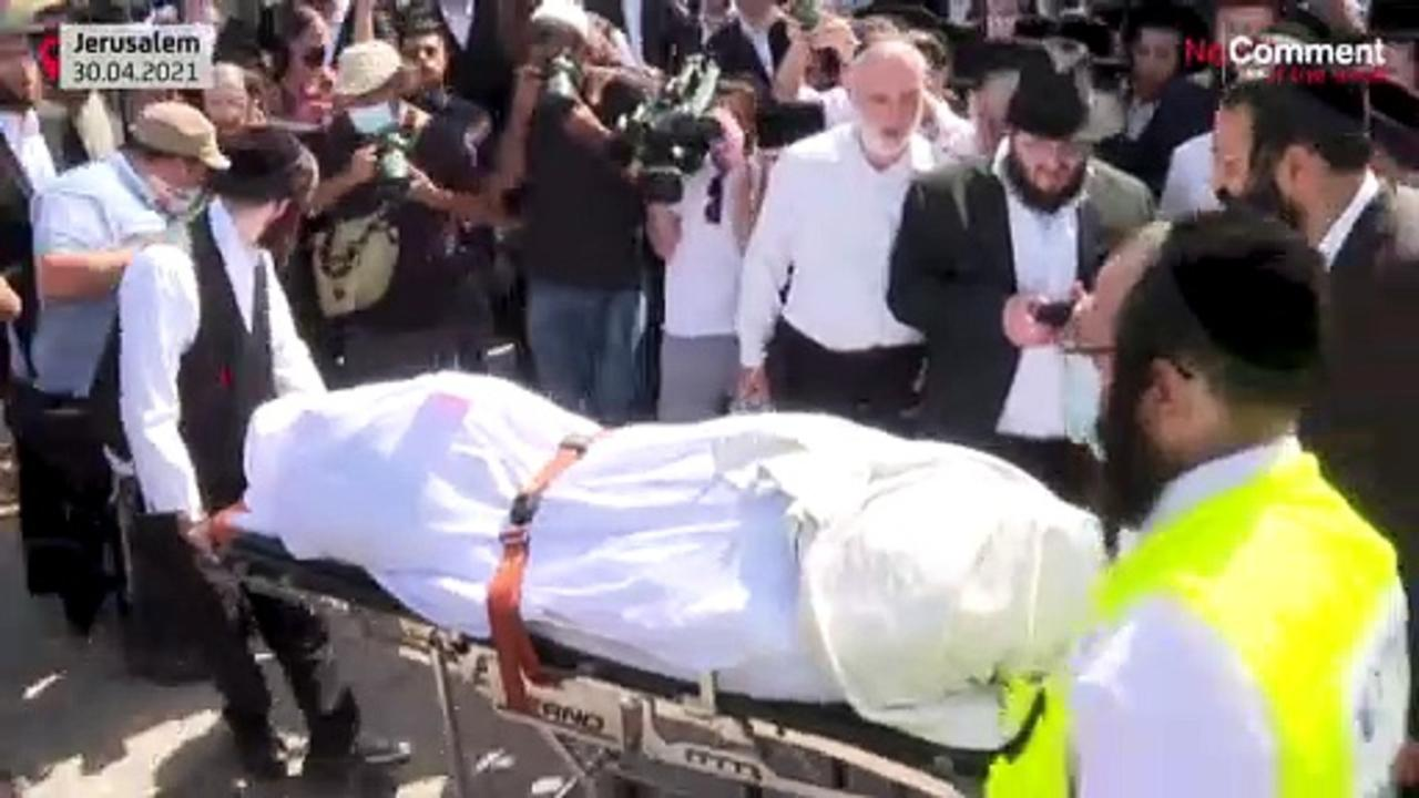 Ultra-Orthodox Jews hold funeral for pilgrim who died in Israel