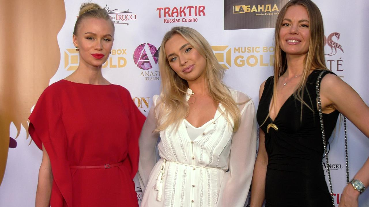 "Anna, Alexandra, Mila ""Mrs. Russian America 2021"" Red Carpet Fashion"