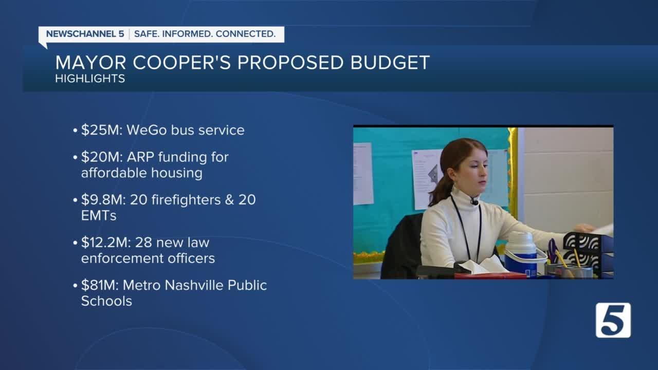 Nashville mayor unveils proposed budget in State of Metro address
