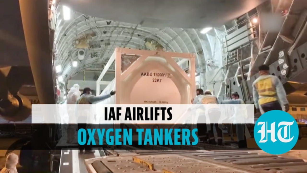 Watch: IAF C-17 aircraft ferries cryogenic oxygen tankers from Thailand's Bangkok