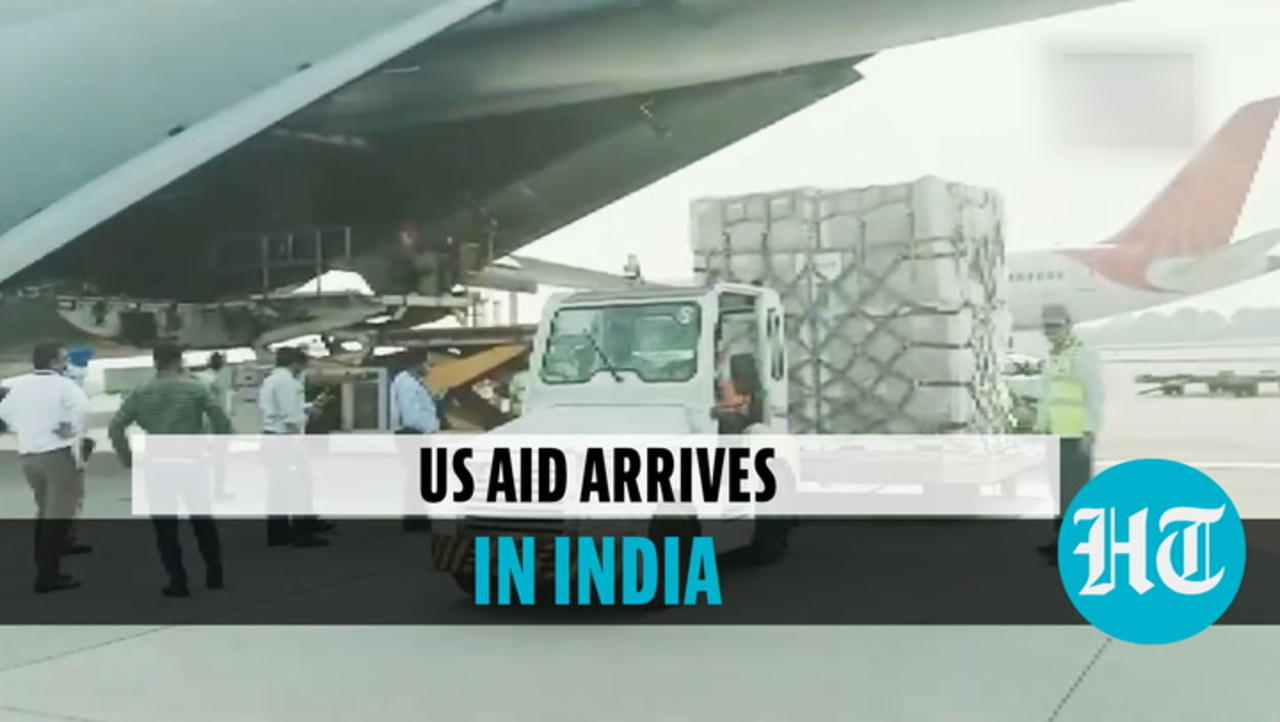 First US emergency relief shipment reaches India as Covid cases set new record