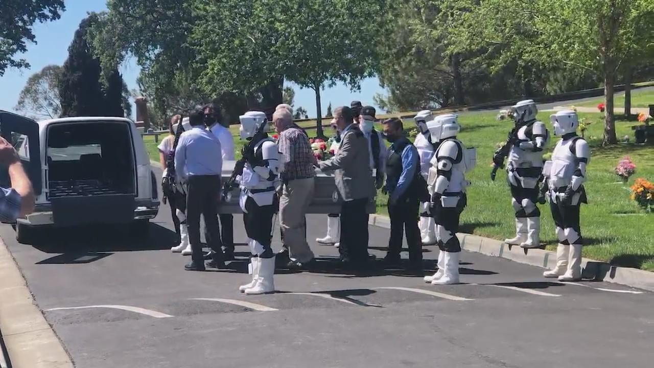 Storm Troopers attend funeral of local man who spent career as movie model maker