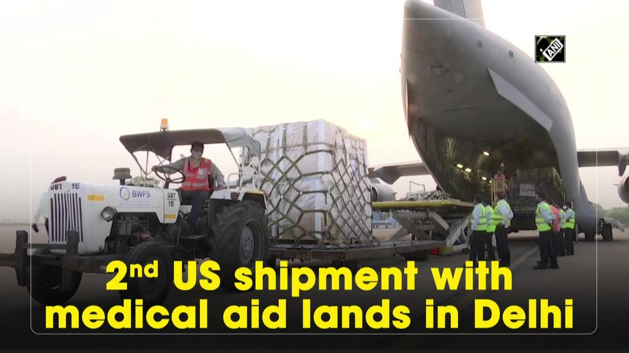 2nd US shipment with medical aid lands in Delhi