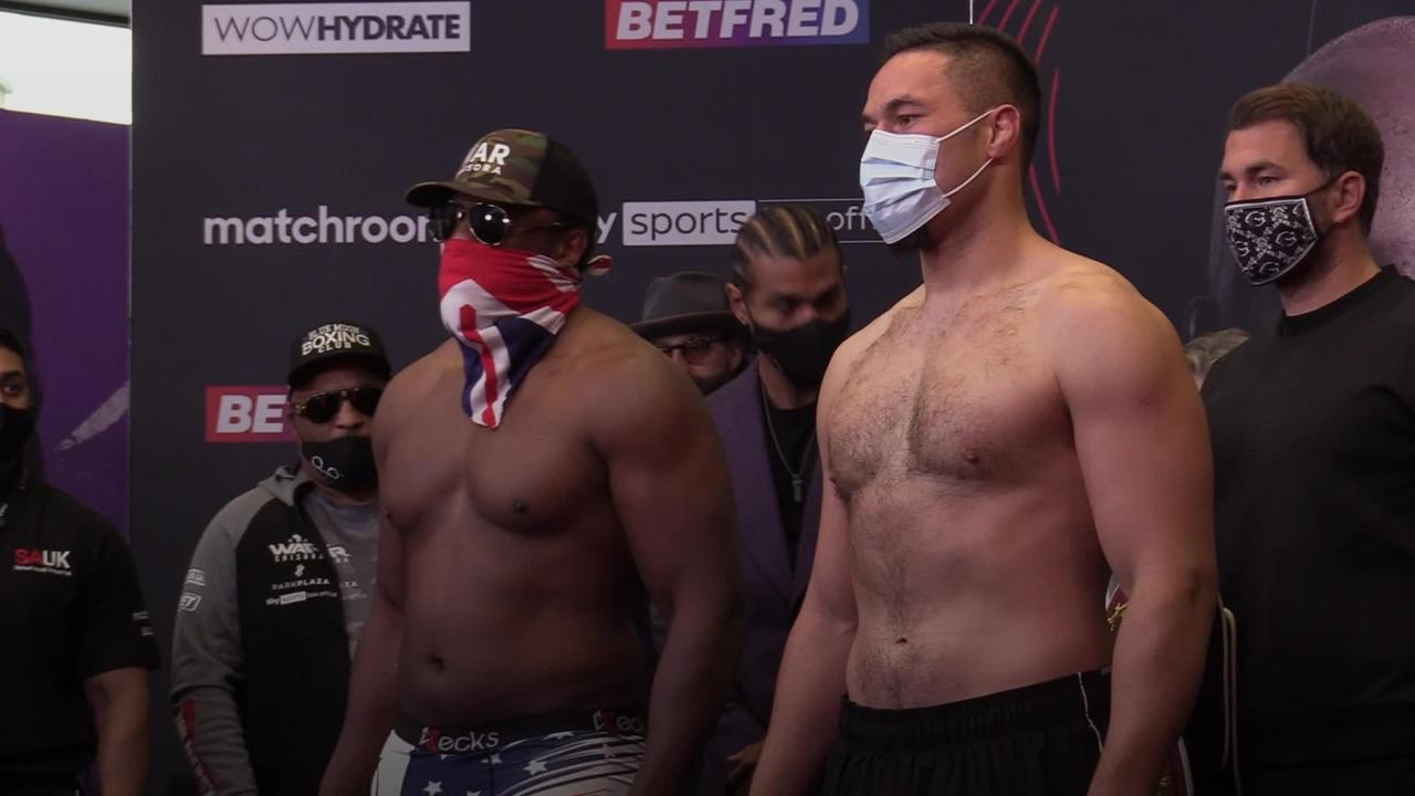 Derek Chisora and Joseph Parker weigh in ahead of fight
