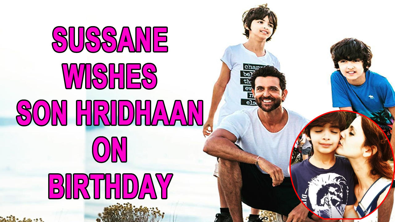 Sussane Khan wishes son Hridhaan on 13th birthday, calls him a true artist