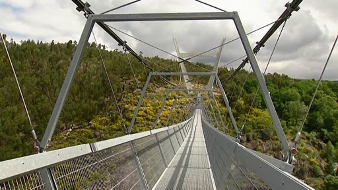 The world's longest suspended footbridge opens in Portugal