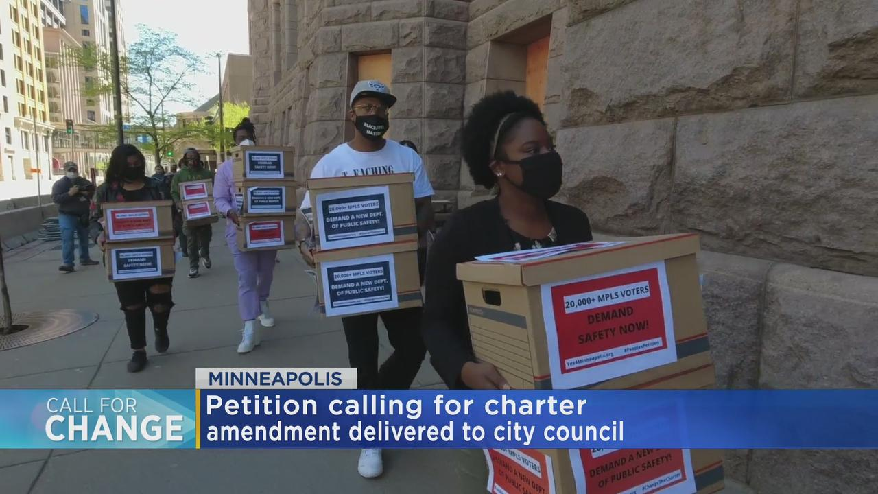Community Delivers Petition To Replace Minneapolis Police Department